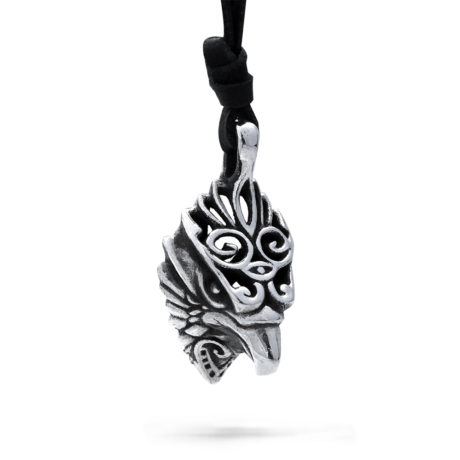 Ether11 Sterling Silver The Messenger Hawk Pendant