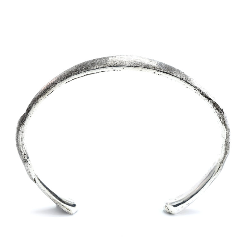 Ether11 Silver Bone Cuff Bracelet Made in USA