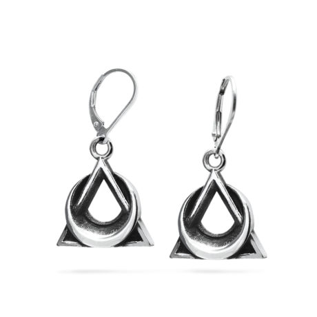 Ether11 Trinity Moon Earrings