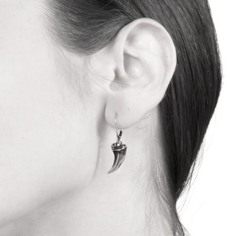 Ether11 Sterling Silver Mini Claw Earrings