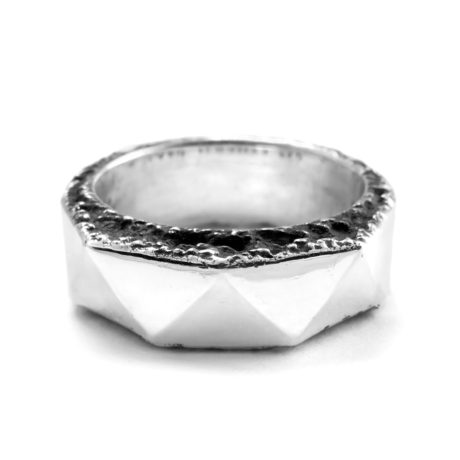 Ether11 Sterling Silver Wide Geode Ring