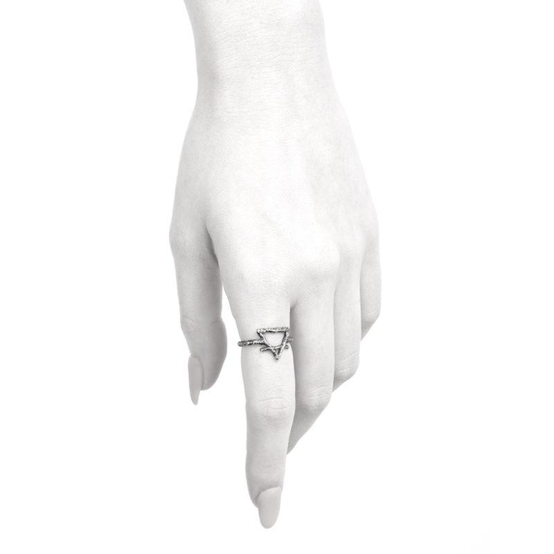 Ether11 Earth Symbol Alchemy Ring