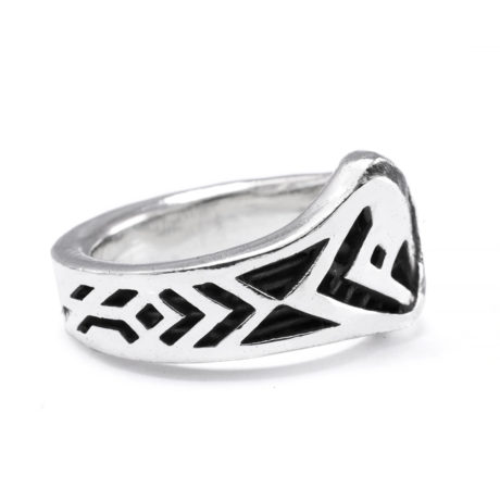 Ether11 Sterling Silver Balance Modern Ring